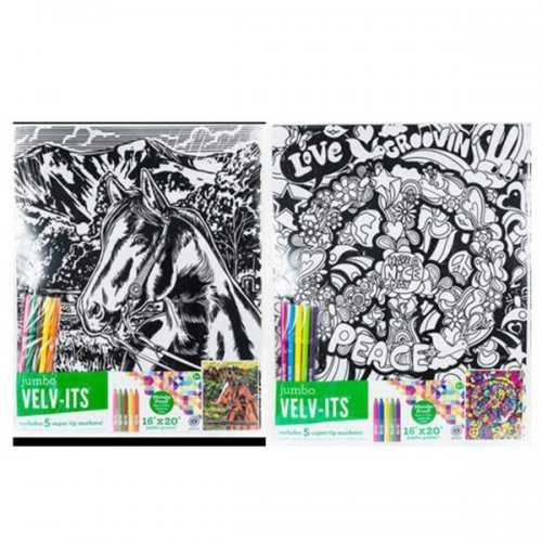 Jumbo Velv-its Poster With Markers (pack of 16)
