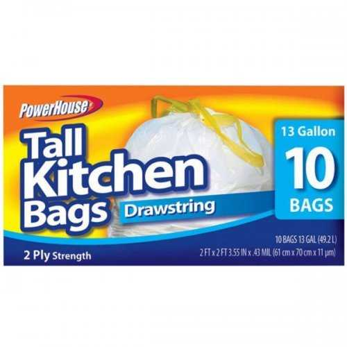 Tall Kitchen Drawstring Bags Set (pack of 20)