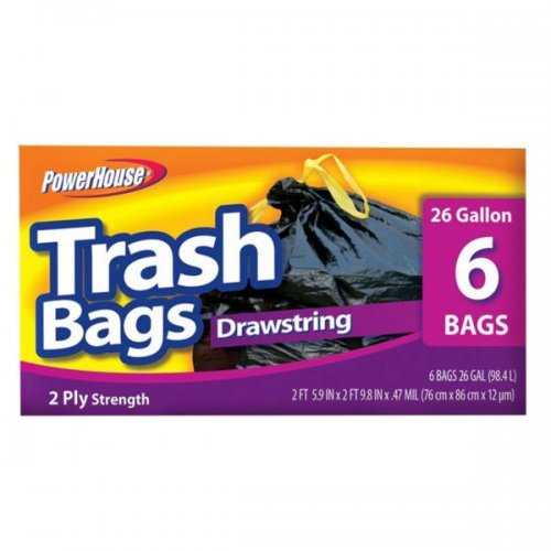 Drawstring Trash Bags Set (pack of 20)