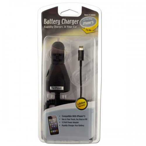 Black Iphone Car Charger With Cord (pack of 12)