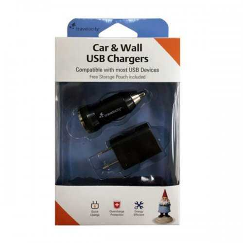 Travelocity Car & Wall Usb Chargers Set (pack of 8)
