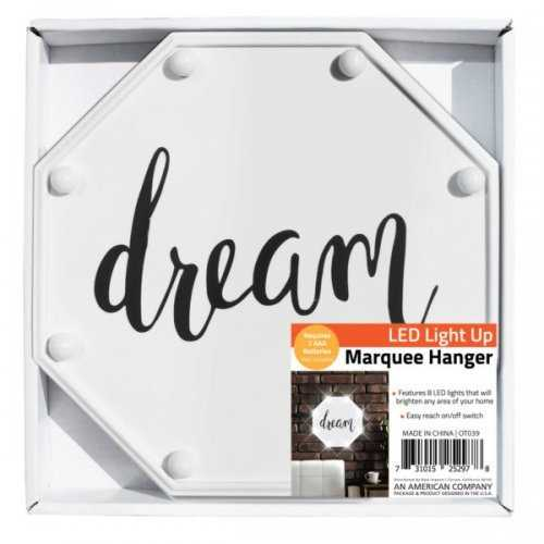 Dream Led Marquee Hanging Wall Sign (pack of 4)