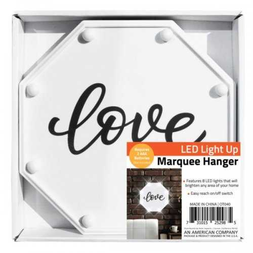 Love Led Marquee Hanging Wall Sign (pack of 4)