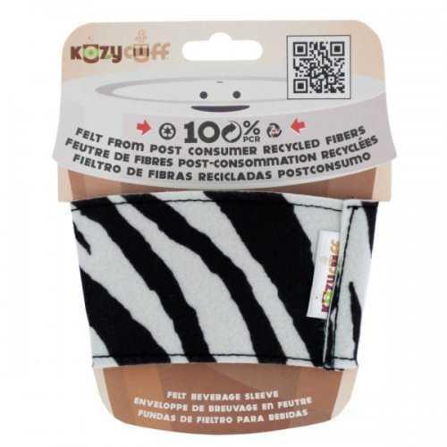 Zebra Kozy Cuff Felt Beverage Sleeve (pack of 24)