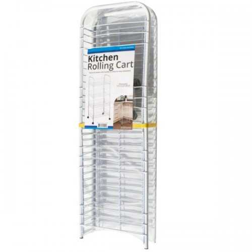 Large White 4-tier Rolling Kitchen Cart (pack of 1)