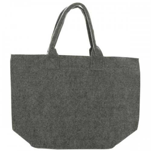 Feltables Charcoal Flat Bottom Tote (pack of 8)