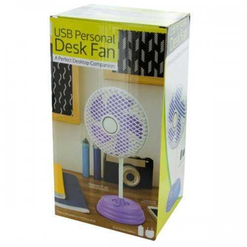 Classic Design Usb Personal Desk Fan (pack of 2)