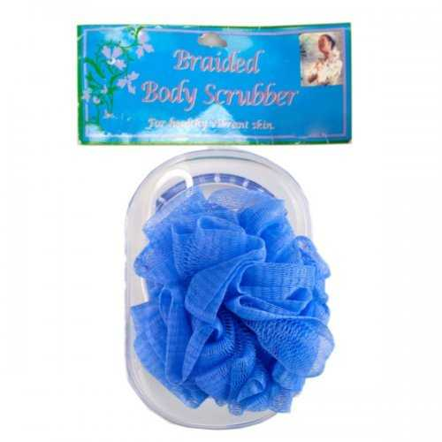 Body Scrubber With Tray In Assorted Colors (pack of 24)