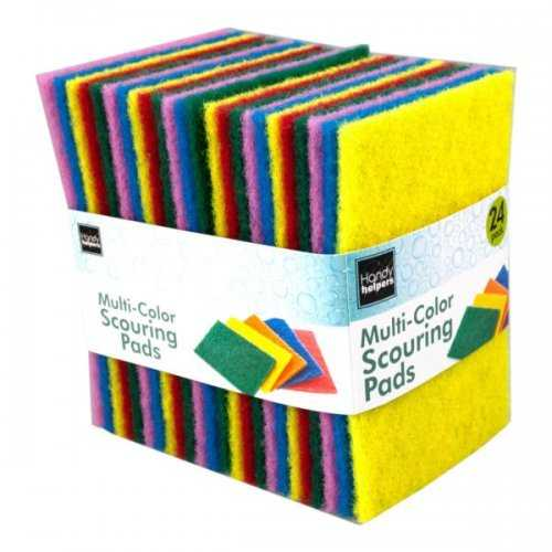 24 Pack Multi-purpose Scouring Pads (pack of 9)