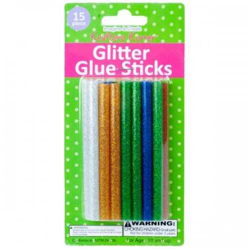 Fifteen Piece Glitter Glue Sticks (pack of 18)