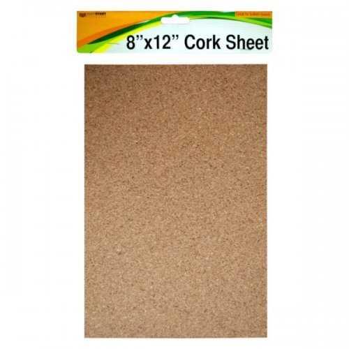 """Cork Sheet 8"""" X 12"""" (pack of 24)"""