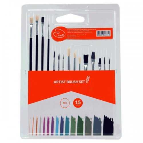 15-piece Artist Brush Set (pack of 12)