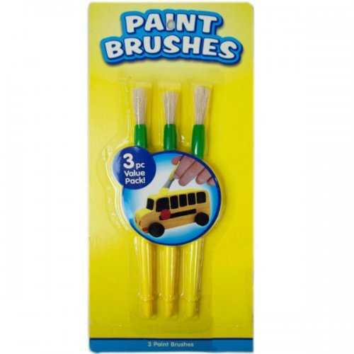 """3 Pack 7"""" Paint Brushes (pack of 18)"""