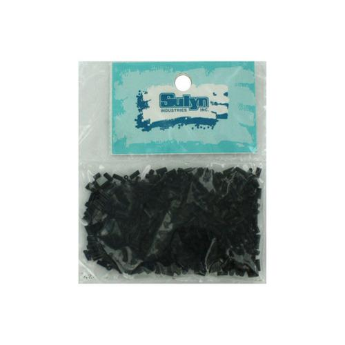 Black Bugle Beads (pack of 25)