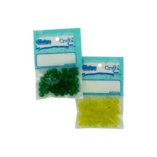 Round Plastic Beads Assorted Colors (pack of 25)