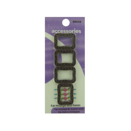 4 Pc Rectangle Beads Frames (pack of 30)