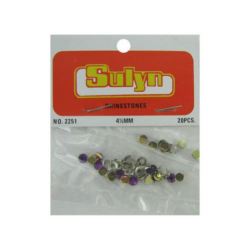 20 Pc 4 1/2mm Purple Rhinestones (pack of 24)