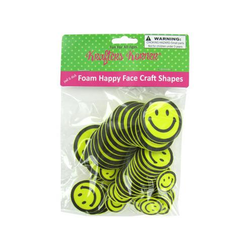 Foam Happy Face Craft Shapes (pack of 12)