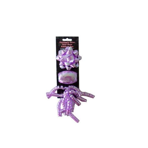 Bow And Ribbon Set, Purple (pack of 24)