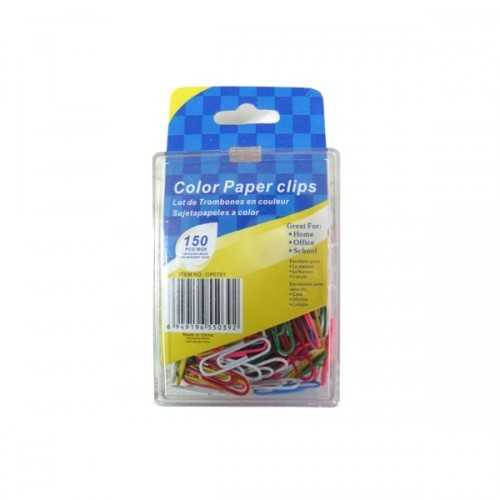 Colored Paper Clips, Pack Of 150 (pack of 24)