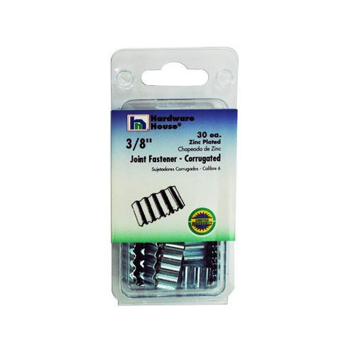 30 Pk 3/8 Inch Zinc Plated Corrugated Joint Fasteners (pack of 20)