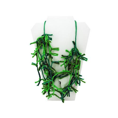 Green Knotted Necklace (pack of 4)