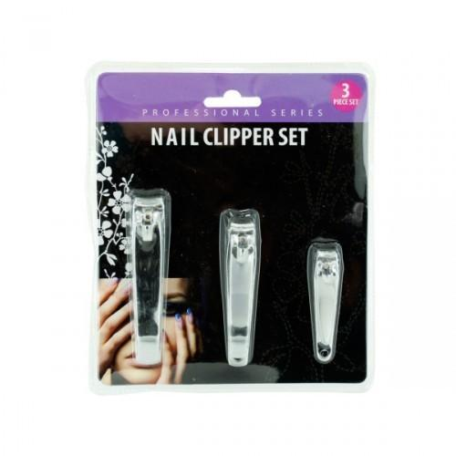 3pc Nail Clipper Set (pack of 12)