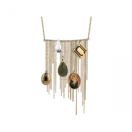 Authentic Nikki Chu Gold Tone Opera Length Tassle Necklace (pack of 1)