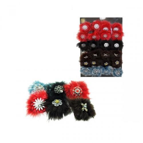 Fur Hair Pin Display (pack of 24)