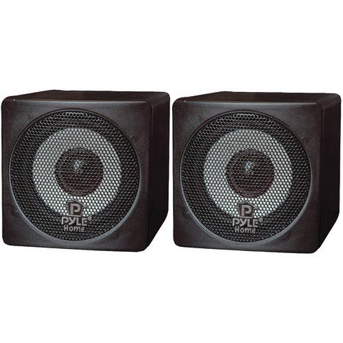 "Pyle Home 3"" 100-watt Mini-cube Bookshelf Speakers (black) (pack of 1 Ea)"