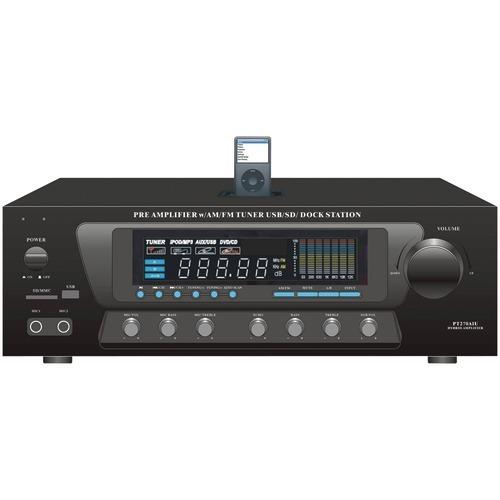 Pyle Home 30-watt Stereo Am And Fm Receiver With Ipod Dock (pack of 1 Ea)