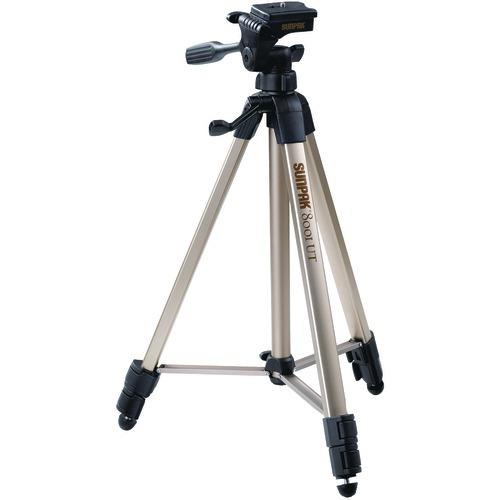 "Sunpak Tripod With 3-way Pan Head (folded Height: 20.8""; Extended Height: 60.2""; Weight: 2.3lbs; Includes 2nd Quick-release Plate) (pack of 1 Ea)"