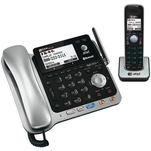Att Dect 6.0 2-line Connect-to-cell Corded And Cordless Bluetooth Phone System (corded Base System & Single Handset ) (pack of 1 Ea)
