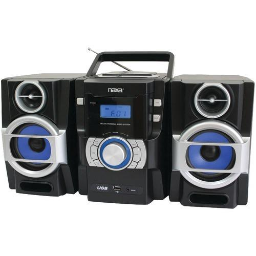 Naxa Portable Cd And Mp3 Player With Pll Fm Radio, Detachable Speakers & Remote (pack of 1 Ea)