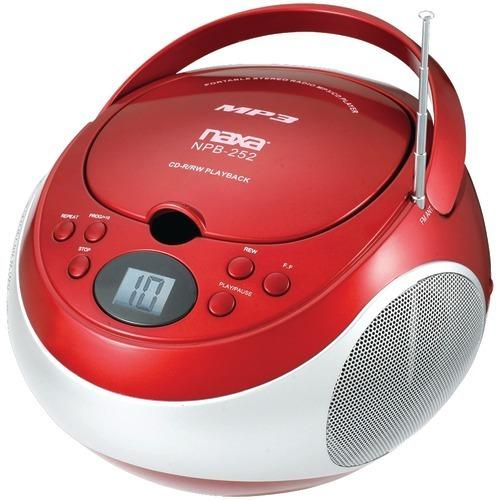 Naxa Portable Cd And Mp3 Players With Am And Fm Stereo (red) (pack of 1 Ea)