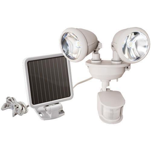 Maxsa Innovations Dual-head Solar Spotlight (off White) (pack of 1 Ea)