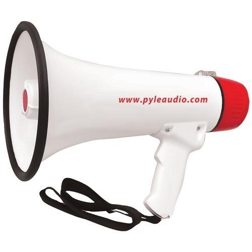 Pyle Pro 40-watt Professional Megaphone And Bullhorn With Handheld Microphone And Siren, Rechargeable Battery & Auxiliary Jack (pack of 1 Ea)