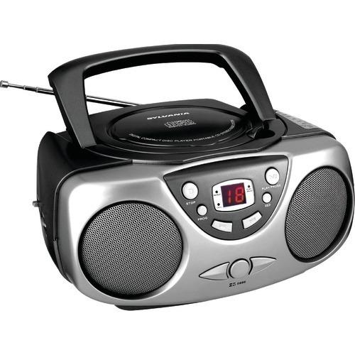 Sylvania Portable Cd Boom Boxes With Am And Fm Radio (black) (pack of 1 Ea)