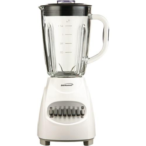 Brentwood 12-speed Blender With Glass Jar (white) (pack of 1 Ea)