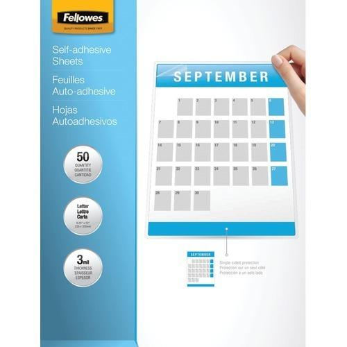 "Fellowes 9"" X 12"" Self-adhesive Laminating Sheets, 50 Pk (pack of 1 Ea)"