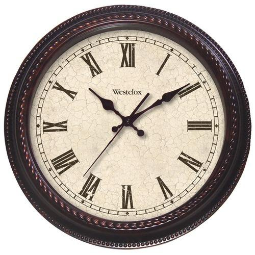 """Westclox 20"""" Round Marbled Case Finish Clock (pack of 1 Ea)"""
