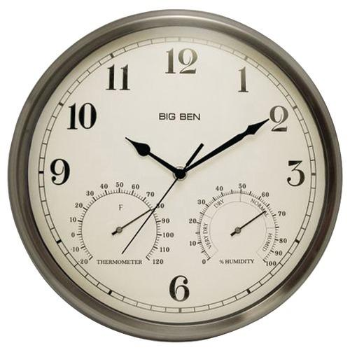Westclox Indoor And Outdoor Clock With Temperature & Humidity Gauges (pack of 1 Ea)
