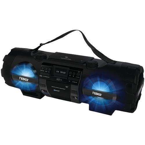 Naxa Cd And Mp3 Bass Reflex Boom Box & Pa System With Bluetooth (pack of 1 Ea)