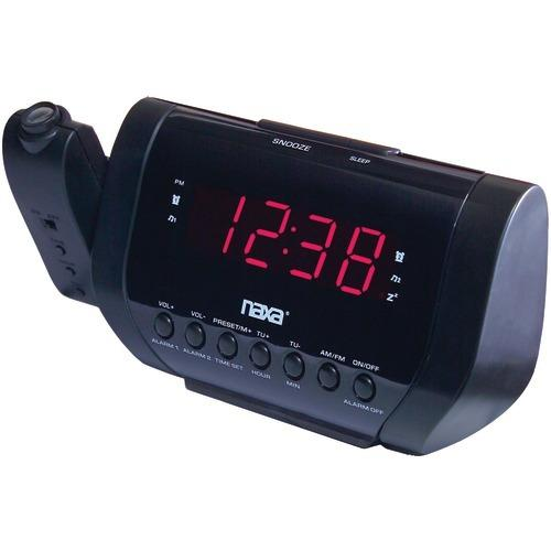 Naxa Projection Dual Alarm Clock (pack of 1 Ea)
