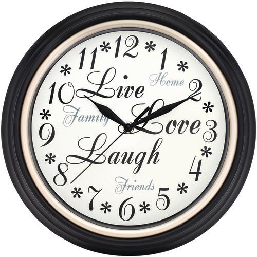 """Westclox 12"""" Round Live Love Laugh Message Clock (pack of 1 Ea)"""