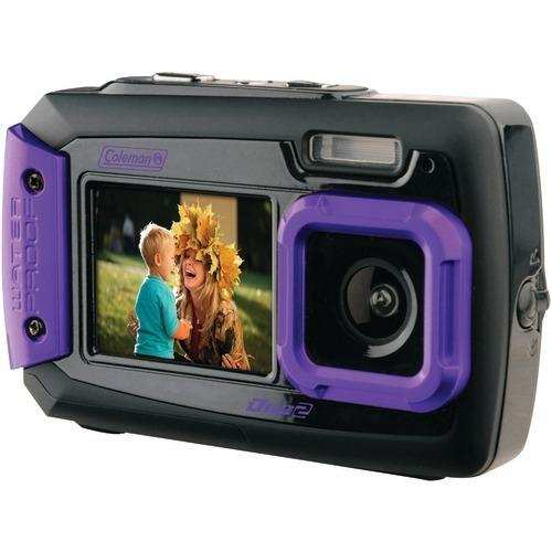 Coleman 20.0-megapixel Duo2 Dual-screen Waterproof Digital Camera (purple) (pack of 1 Ea)
