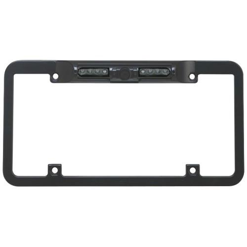 Boyo Night Vision Zinc Metal License Plate Camera With Built-in Ir, 140deg Wide Viewing Angle & Reverse And Nonreverse Switch (black) (pack of 1 Ea)