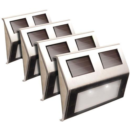 Maxsa Innovations Solar Deck Lights, 4 Pk (stainless Steel) (pack of 1 Ea)