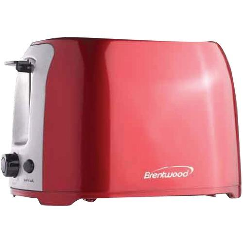 Brentwood 2-slice Cool Touch Toaster (red & Stainless Steel) (pack of 1 Ea)