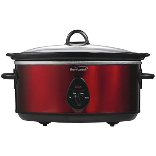 Brentwood 6.5 Quart Slow Cooker (red) (pack of 1 Ea)